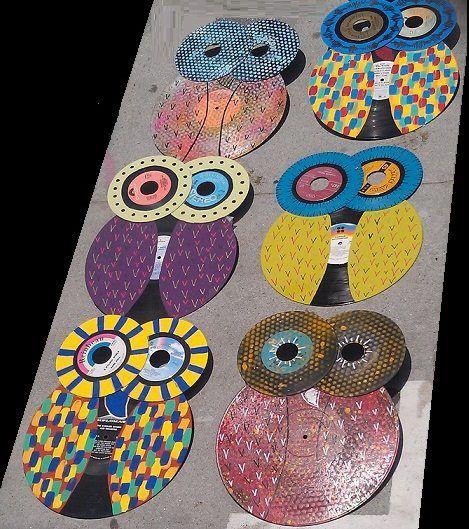 Rosely Pignataro: Reciclando discos de vinil