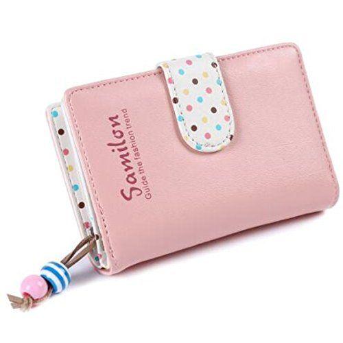 Geldbörse Damen Geldbeutel Portemonnaie Portmonee echtes Lack Leder ~ Rosa Pink