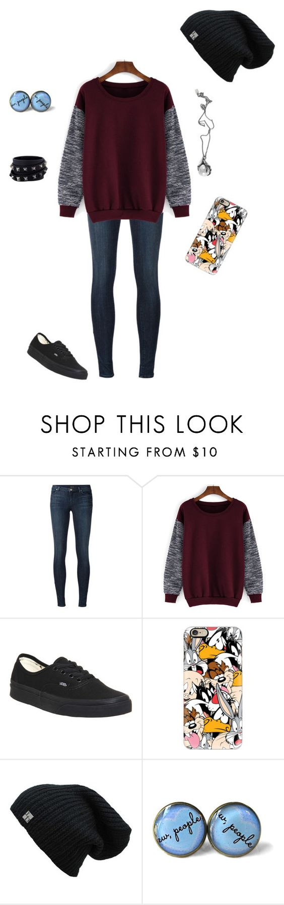 """""""Untitled #142"""" by vannabean ❤ liked on Polyvore featuring J Brand, Vans, Casetify, Valentino and Killstar"""