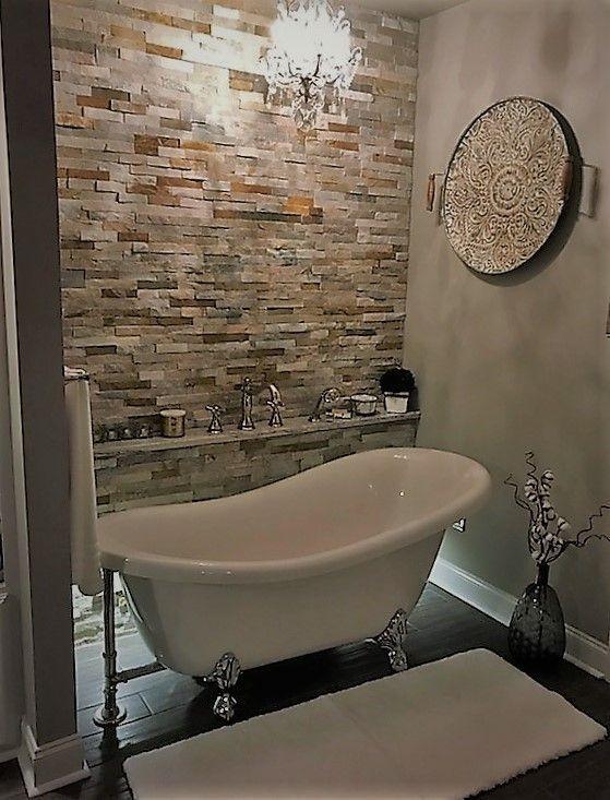 Clawfoot Slipper Bathtub Clawfoot Tub Bathroom Bathroom Design Farmhouse Master Bathroom