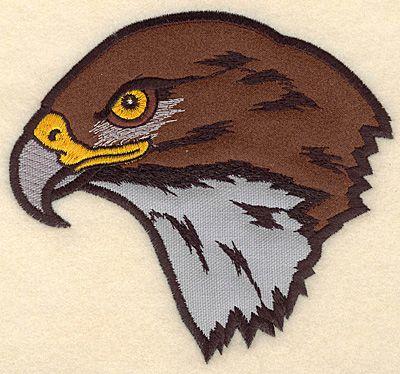 "Hawk Head medium double applique 5.42""w X 5.00""h"