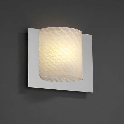 Justice Design Group Fusion Framed Square Three Sided Fluorescent Brushed Nickel 1000 Lumen Led Wall Sconce Fsn 5560 Weve Nckl Led1 1000 In 2020 Woven Shades Led Wall Sconce Wall Sconces