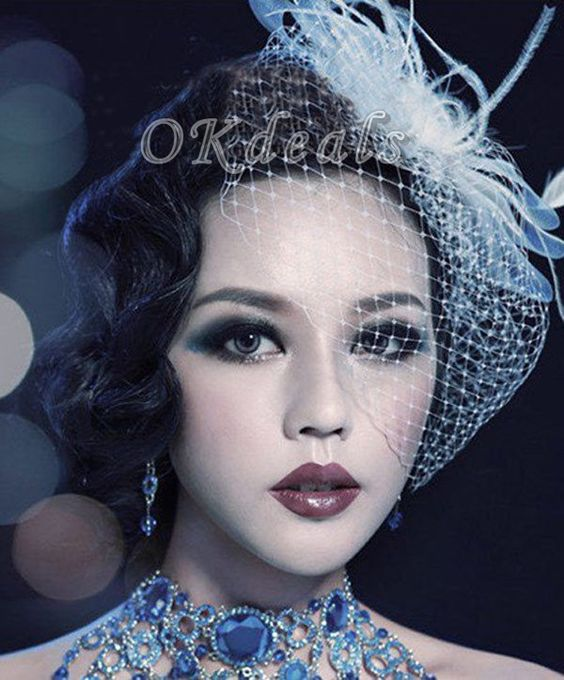 Cheap accessories shawl, Buy Quality ornamental sprinkler directly from China accessories cotton Suppliers:    Bridal Feather Veil Party Headdress Fascinator Feather veil Wedding accessories