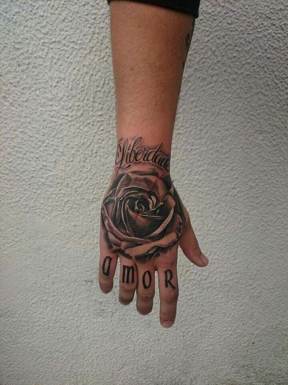 Tattoos For Men Rose Tattoo Hand On Rose Tattoo Rose Tattoo