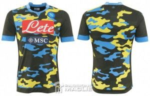 Nova camisa camuflada do Napoli - http://www.colecaodecamisas.com/nova-camisa-camuflada-napoli-2014/ #colecaodecamisas #Macron, #Napoli