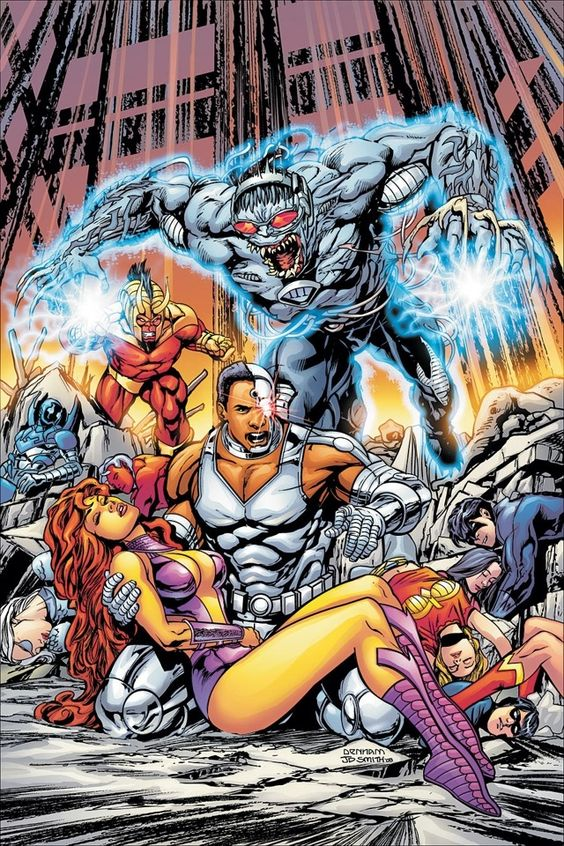 #Cyborg #Fan #Art. (DC Special Cyborg #4 Cover) By: Jonathan Smith. ÅWESOMENESS!!!