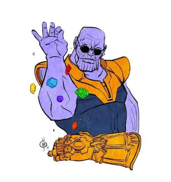 Thanos Sprinkling Infinity Stones on Gaunlet Meme