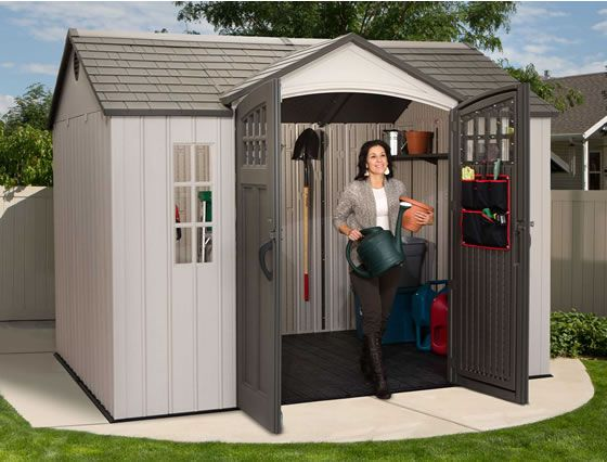 Lifetime 10x8 Side Entry Shed W Vertical Siding Outdoor Storage