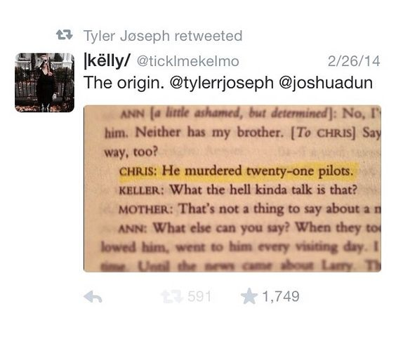 The origin |-/ All My Sons by Arthur Miller. I love where the name of the band came from and what it means <3
