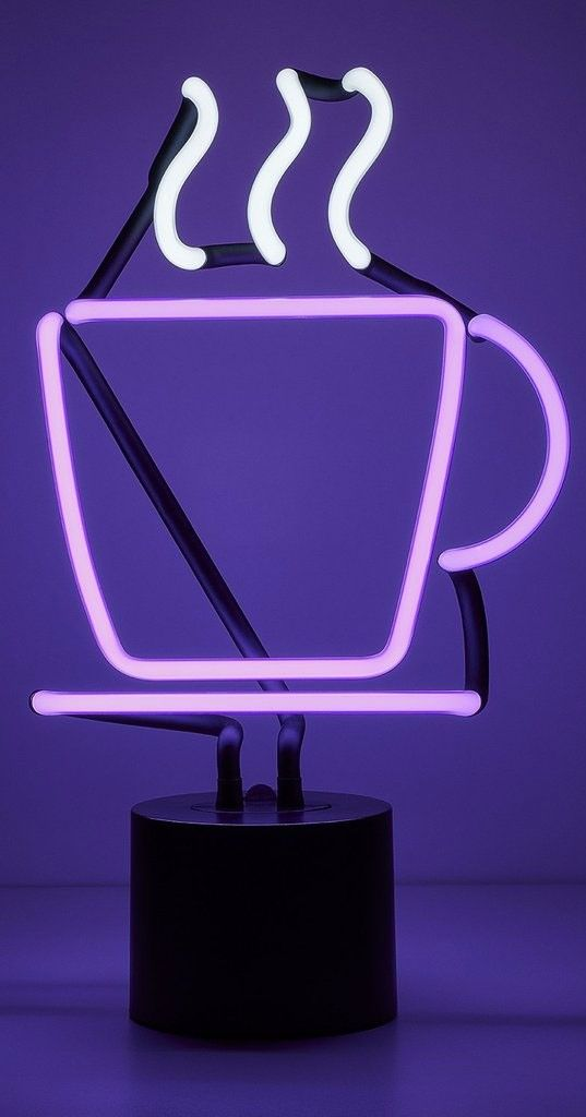 Coffee Neon Desk Lamp By Amped Co Nl Coffee Neon Room Cool Lighting Butterfly Room