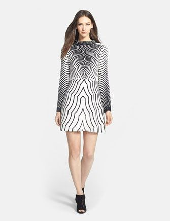 MARC BY MARC JACOBS 'Radio Waves' Print Woven A-Line Dress