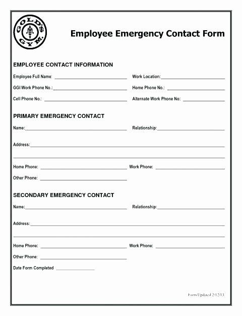 Emergency Medical Information Form Template Fresh Emergency Medical Form Template Falgunpatel Emergency Medical Emergency Response Plan Medical Information