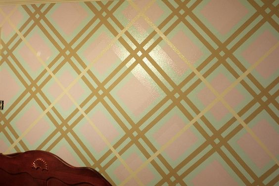 Plaid wall tutorial This idea is growing on me Im