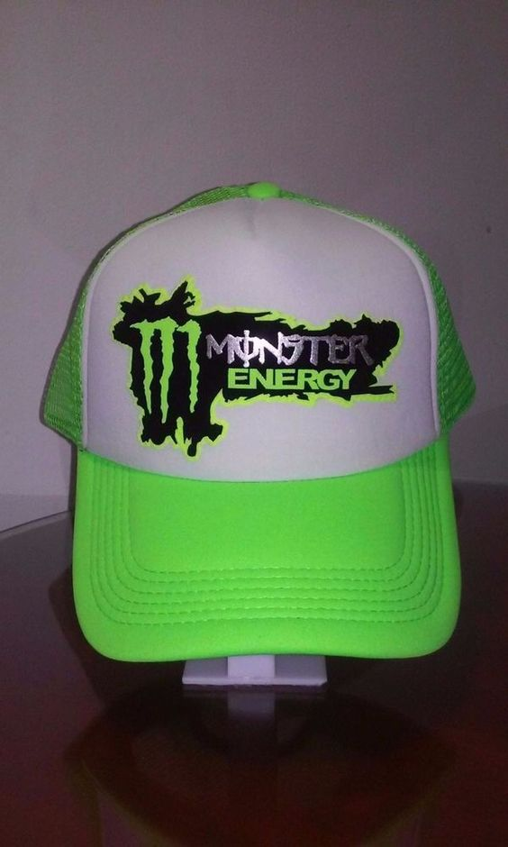 Monster Energy Drink Logo Mesh Hat Snapback Adjustable Trucker Cap  Neon Green #Trucker