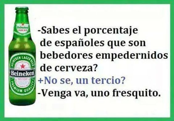 Porcentaje de españoles bebedores. #humor #risa #graciosas #chistosas #divertidas