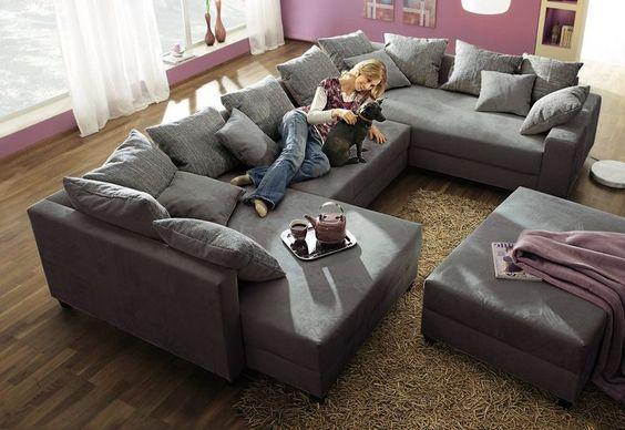 bequeme Wohnlandschaft Beauty Mit vielen Funktionen - designer couch modelle komfort