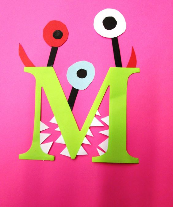 Letter M Craft - Monster, library passive program: