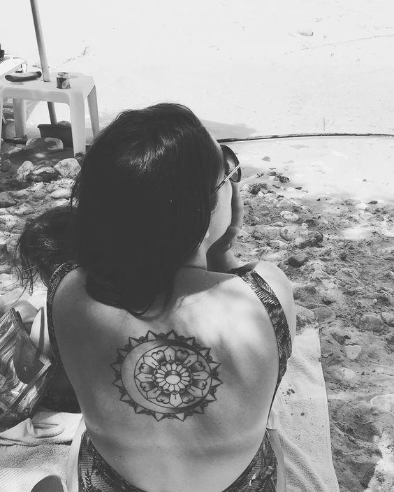"Mandala tattoo ""sun and moon""❣🌞🌙"