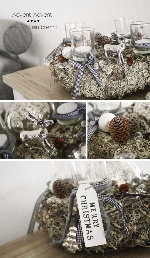 adventskranz adventsgesteck kr nze pinterest. Black Bedroom Furniture Sets. Home Design Ideas