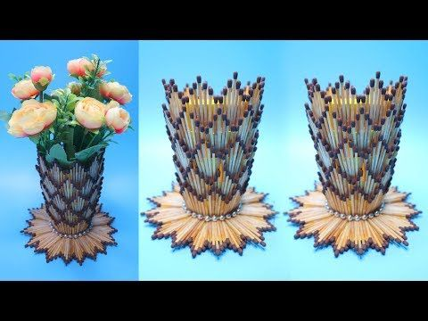 Vas Bunga Dari Korek Api Kayu Ide Kreatif Korek Kayu Vase With