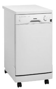 Saw this on apartmenttherapy.com. My apartment is a decent size but my kitchen is stupid small (definitely no room for a full size dishwasher). I want this soooooo bad! Amazon.com: Danby DDW1899WP 8 Place Setting Portable Dishwasher - White: Appliances