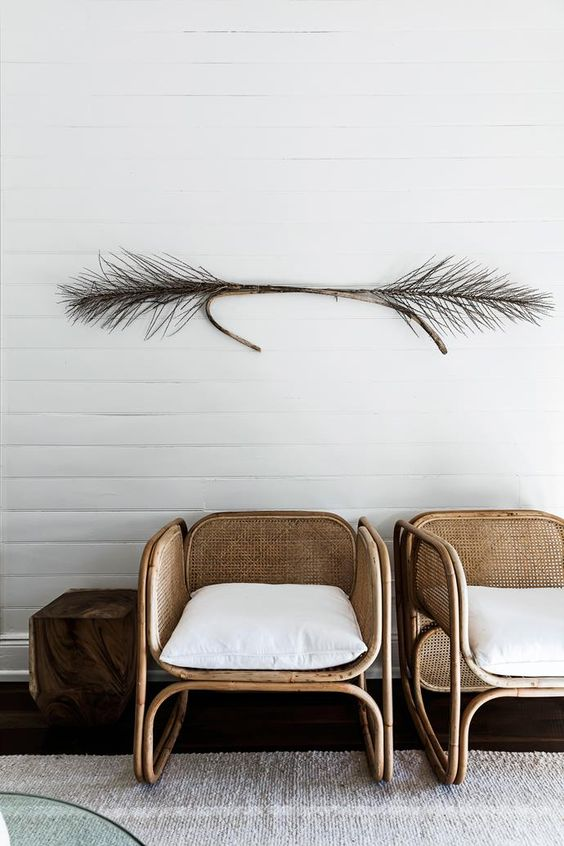 Kinfolk // love these woven chairs!