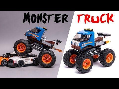 Custom Design Lego City Monster Truck Speed Build Video Monster Trucks Trucks Lego