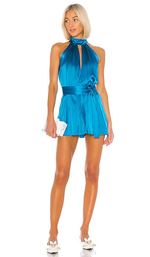 Alexis Rayelynn Romper In Blue Rompers Rompers Women Fashion
