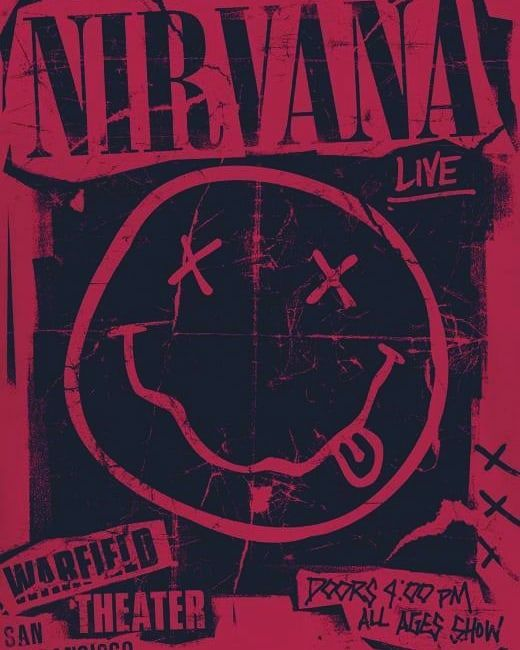 Onlineat3am Aesthetic Aesthetics Aesthetictumblr Arts Design Photography Beautiful Tumblr Pinterest Band Posters Nirvana Poster Rock Band Posters