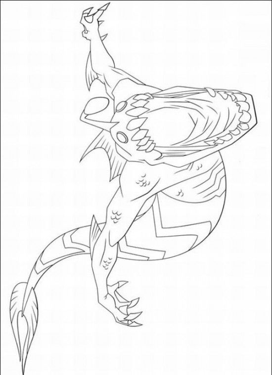 Coloring aliens and coloring pages on pinterest for Ben 10 ultimate alien coloring pages to print