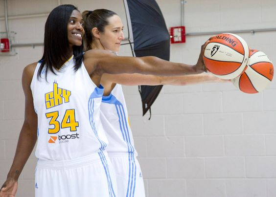 Ruth Riley and Sylvia Fowles  Chicago Sky