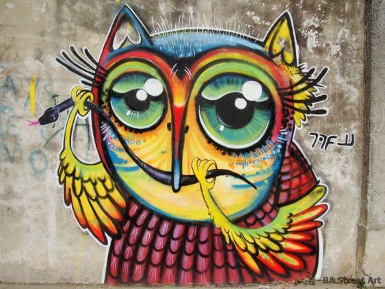 street art. 000: Tours Buenosairesstreetart, Arted Street, Heart Owls, Art Character, Street Art Graffiti, Colombia Buenosairesstreetart, Graffiti Art, Graffiti Street
