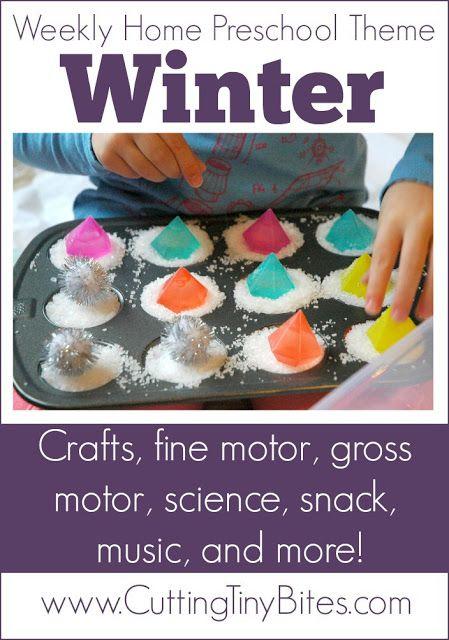 Winter theme weekly home preschool homeschool for Winter themed gross motor activities