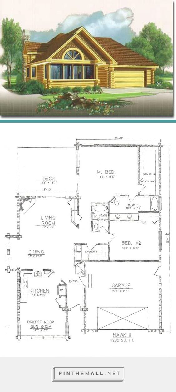 Flowing Floor Plan A Master Suite And Attached Gar Pinteres