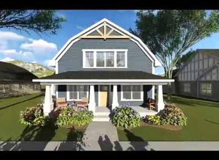 3 Bed House Plan With Gambrel Roof 890051ah Architectural Designs House Plans In 2020 Barn Style House Barn Roof House Front Porch