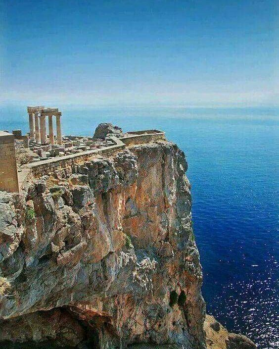 Acropolis of Lindos, Rodos Island, Greece