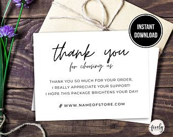 Poshmark Thank You Card Poshmark Thank You Card Template Etsy Thank You Card Template Printable Thank You Cards Thank You Card Design