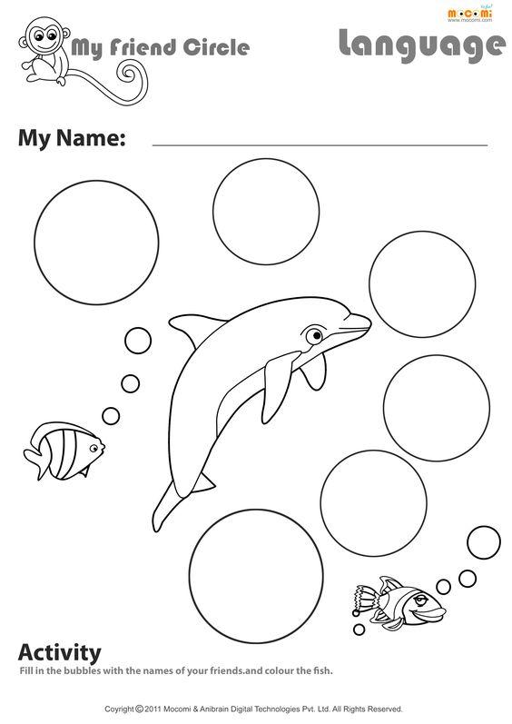 my friend s circle english worksheet for kids school stuff pinterest english worksheets. Black Bedroom Furniture Sets. Home Design Ideas