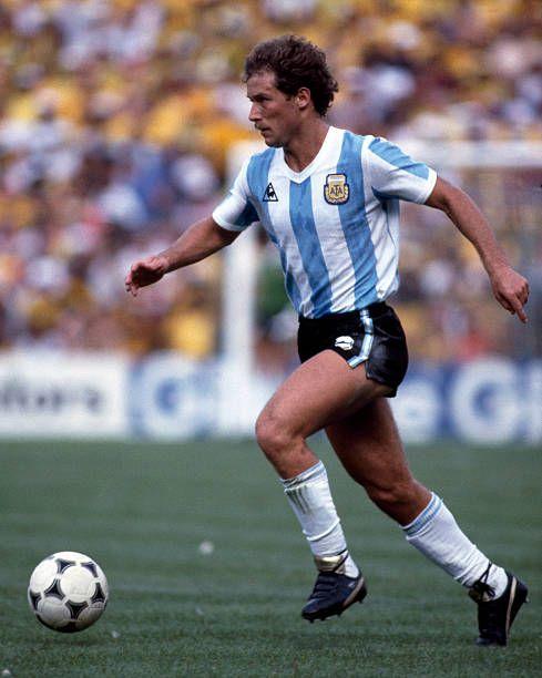 Football World Cup 1982, Brazil v Argentina, Gabriel Calderon ...