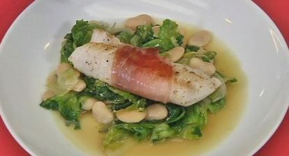 Recipe: Prosciutto Wrapped Codfish with Greens and Beans - Rochester ...