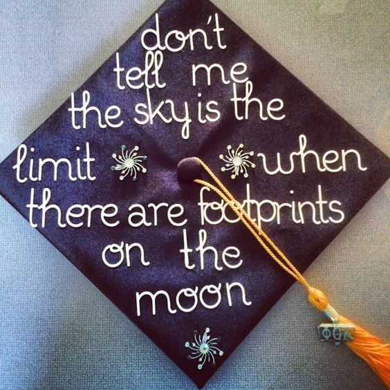 Inspirational quote for your graduation cap graduation for Decoration quotes