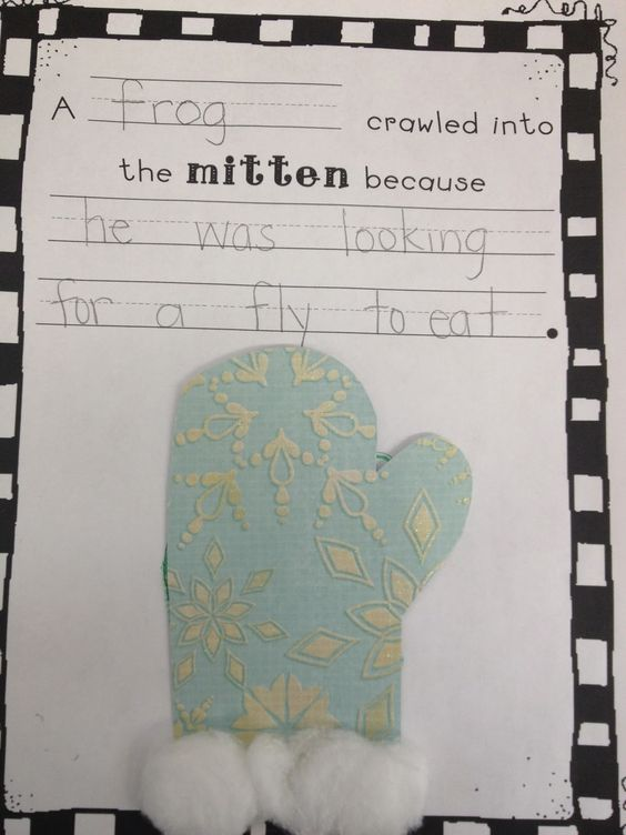 FREE mitten pattern to make a writing prompt page to go along with Jan ...