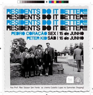 Flyer be space - apresentação dos novos dj's residentes.