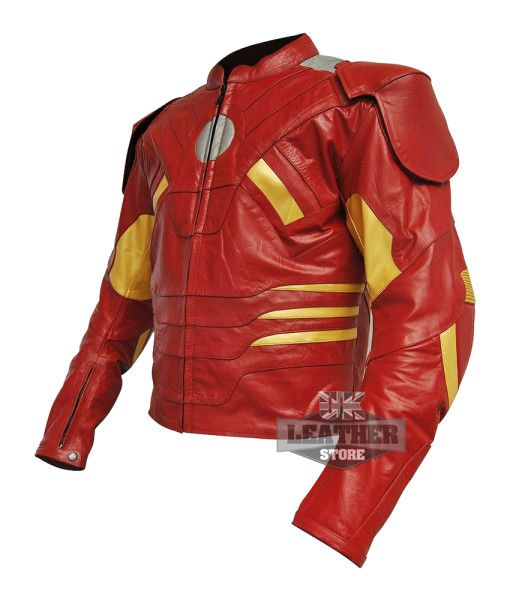 Iron Man Costume Leather Jacket from Movie Captain America: Civil