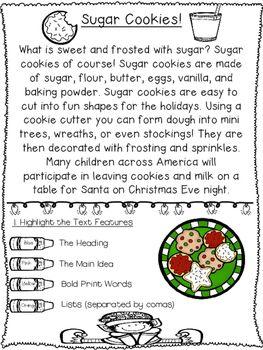 Math worksheet first grade second grade holiday christmas reading