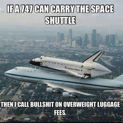 Overweight Luggage Fees.