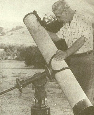 """56-59: Maurice Weekley and George Adamski (1891-1965), """"Flying Saucers As Astronomers See Them"""": Weekly offers three instances where astronomers have reported UFOs. The first UFO photo of coauthor and barely amateur astronomer Adamski is published here."""
