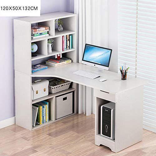 Simple Computer Table Desktop Household Bookcase Storage Rack Combination Solid Wood Student Desk Economic Type Bookshelf Desk Wood Office Desk Computer Table
