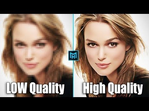 How To Depixelate Images And Convert Into High Quality Photo In Photoshop Youtube Rabota V Fotoshope Fotografii Banner