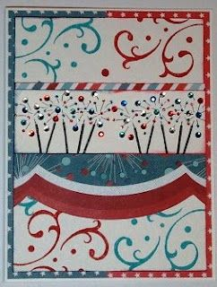 DeNami Patriotic Sparklers card by @Christy Pratt